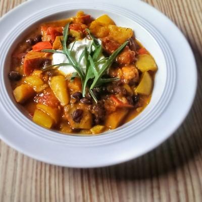 Clean Eating herbstliches Kürbis Chili Rezept