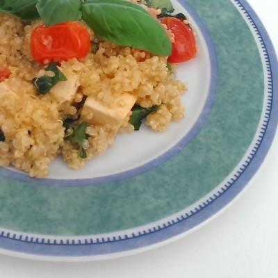 Clean Eating Parmesan-Quinoa italienischer Art