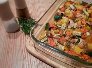 Leckeres Clean Eating Tilapia Ofenrezept mit Gemüse